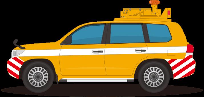 道路をパトロールする車